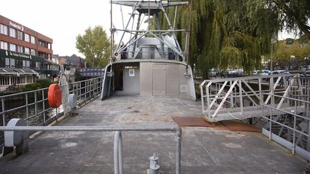 The TS Nelson, home to the Norwich Sea Cadets and the Royal Marine Cadets, which will soon be up for