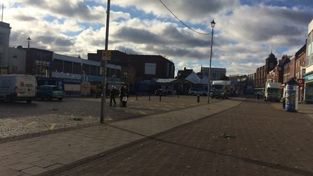 The Wednesday outdoor market in Great Yarmouth has been cancelled due to high winds. Picture: Antho