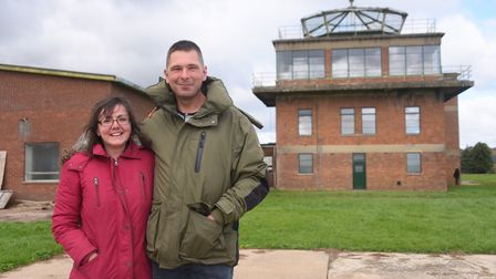 Shelly and Jon Booty at the former RAF Raynham Control Tower which they are turning into their home.