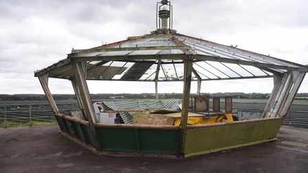 The Visual Control Room at the roof of the former RAF Raynham Control Tower. Picture: DENISE BRADLEY
