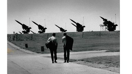 Bloodhound missiles mounted at RAF West Raynham in 1970. Picture: ARCHANT LIBRARY