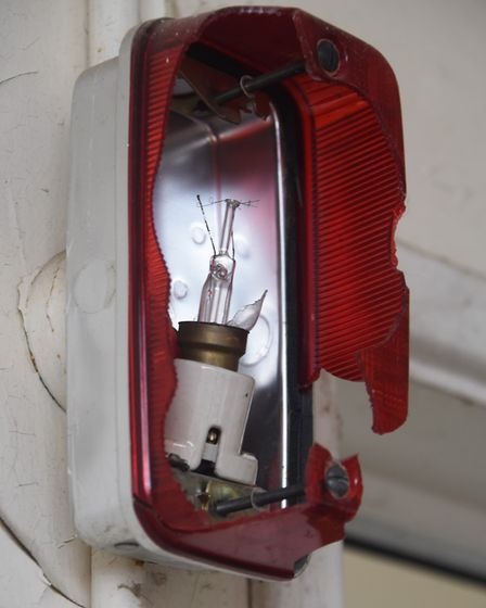 An alarm light at the former RAF Raynham Control Tower. Picture: DENISE BRADLEY