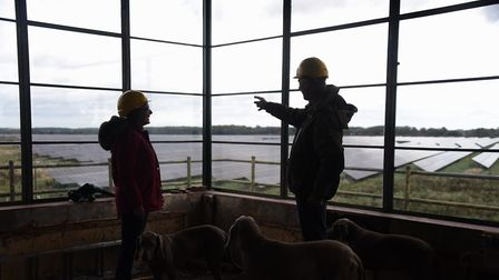 Shelly and Jon Booty in the Approach Control Room at the former RAF Raynham Control Tower, which the
