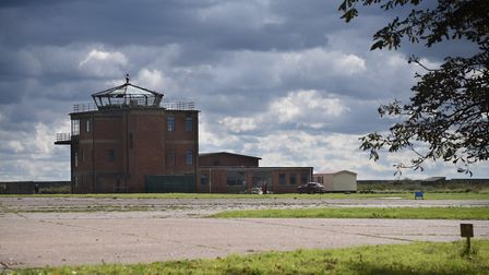 The former RAF Raynham Control Tower, which Shelly and Jon Booty are turning into their home. Pictur