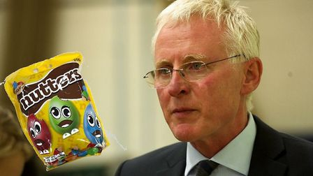 North Norfolk MP Norman Lamb and the Nutters sweets. Photo: Archant