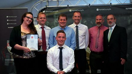 Stalham Youth FC picked up the FA Charter Standard Club of the Year award. Picture: Chris Pegs Ham