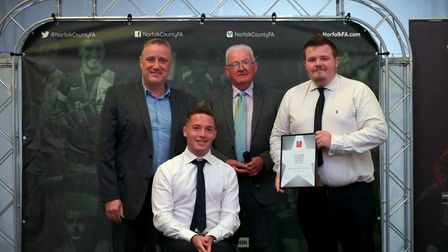 FA Charter Standard League Award winners - Norfolk Combined Youth Football League. Picture: Chris P
