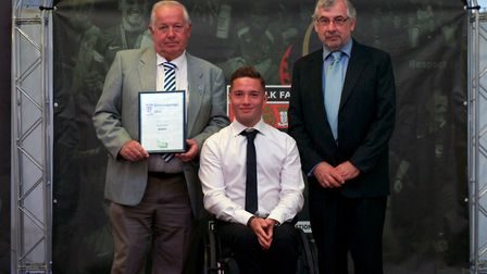 Peter Smith Groundsman of the Year � Steve Finch (Wells Town FC). Picture: Chris Pegs Hampton