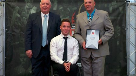 Outstanding Contribution to Community Football � Colin Tungate (Martham FC). Picture: Chris Pegs H