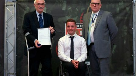 15 Year Long Service (officer) � Chris McCullough (The Anglian Combination Football League). Picture