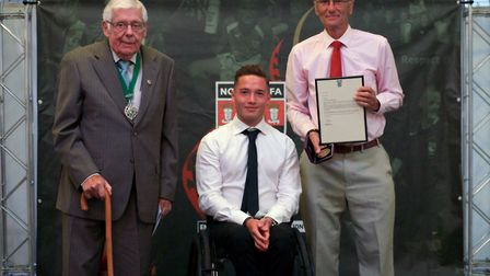 The FA 50 Year Long Service � David Smith (50 years as a Norfolk FA match official). Picture: Chris