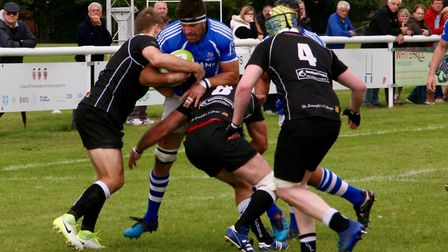 Action from Diss's defeat at Colchester last weekend. Picture: John Grist
