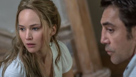 Jennifer Lawrence as Mother and Javier Bardem as Him in mother! Photo: Paramount Pictures/Niko Taver