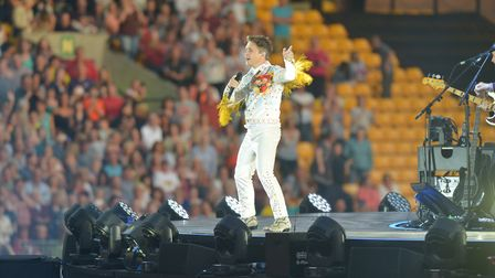 Take That perform at Carrow Road. Picture: SONYA DUNCAN *These pictures can only be used up to Nove