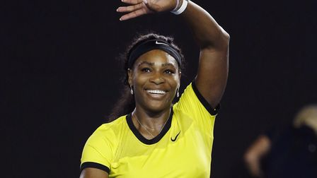 Serena Williams of the United States celebrates after win. (AP Photo/Vincent Thian)