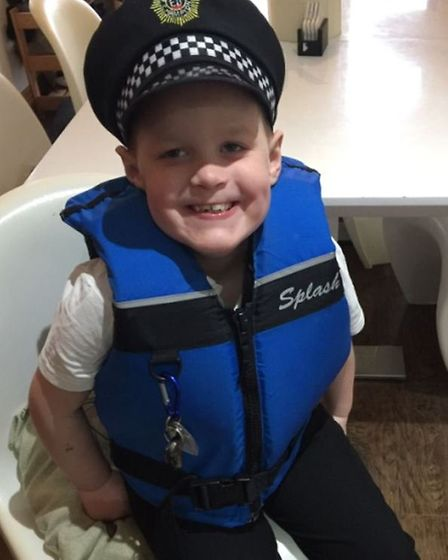Lee, 8, who lives with Foetal Alcohol Spectrum Disorder. Lee was adopted by Sam and Paul Lister, fro