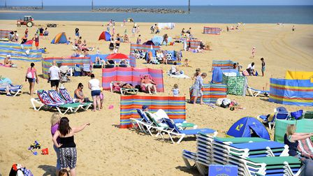 Sea Palling beach was packed over the bank holiday weekend. Picture: MARK BULLIMORE