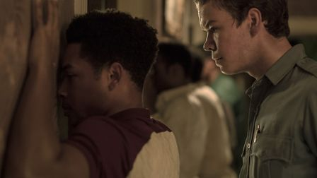 Jacob Latimore as Fred Temple and Will Poulter as Philip Krauss in Detroit. Photo: Entertainment One