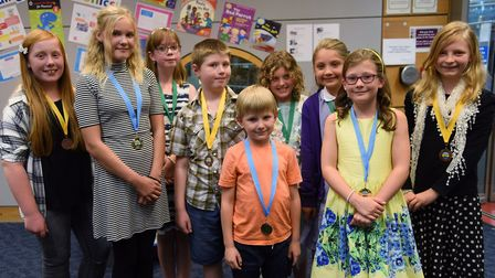 The winners of the Write On Norfolk 2016 competition. Picture: DENISE BRADLEY