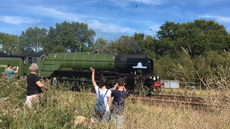 A1 Tornado arriving in Great Yarmouth. Picture: David Hannant