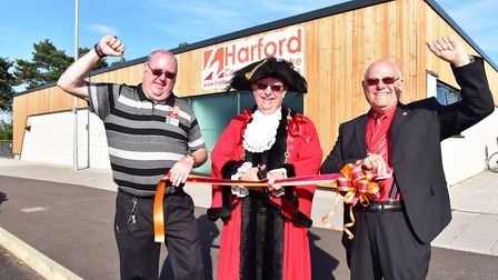 Official Opening of the Hardford Community centre by Lord Mayor councillior David Fullman with Ian W