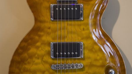 The LAG Roxane 3000 Master guitar which was stolen from a property in Diss. Picture: NORFOLK POLICE
