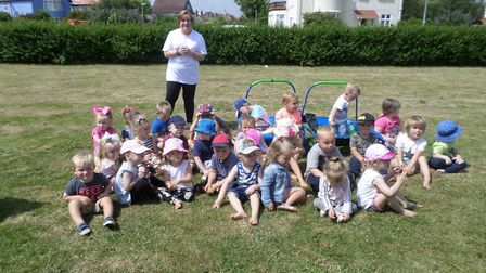 Cascade Nursery in Gorleston, held a family day and raised £650. Picture supplied by Gail Eccles