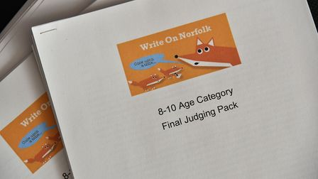 Judges whittle down the entries for this year's Write On Norfolk competition.