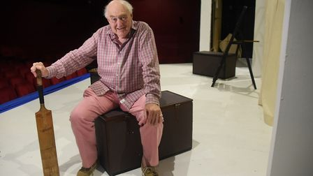 Cricket commentator Henry Blofeld, at the Maddermarket Theatre. Where he is doing two shows. Picture