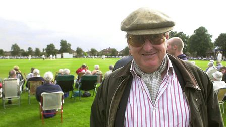 Henry Blofeld at the old Lakenham county cricket ground. Picture: Bill Smith