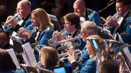 Cawston Band with conductor David Stowell. Photo: Bill Smith