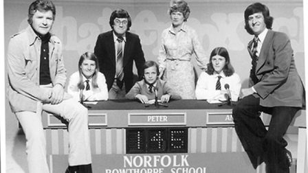 The Bowthorpe team with star guests Gyles Brandeth and Ed Stewart appearing on Chatterbox. Picture: