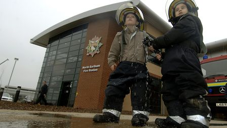 The new North Earlham Fire Station was officially opened yesterday (Fri).Joshua Trainello, left, of