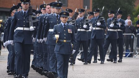The Battle of Britain parade by RAF Marham at the City Hall. Picture: DENISE BRADLEY
