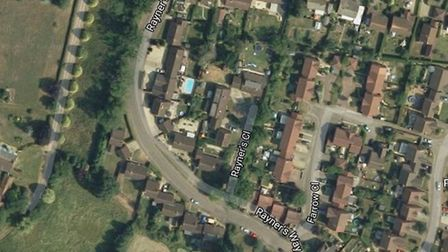 Police are investigating an attempted burglary at Rayners Way in Mattishall. Image: Google Maps