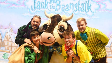 Jack and the Beanstalk is this year's pantomime at the King's Lynn Corn Exchange. Pictured are (from