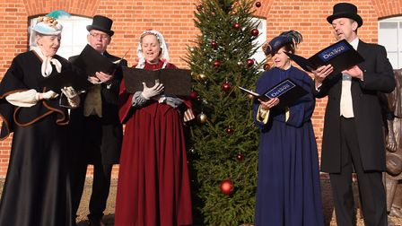 The Upper Octave performing at a Victorian Family Christmas day at Gressenhall Farm and Workhouse. P