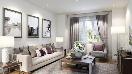 One of the living spaces offered at a Newbury New Home