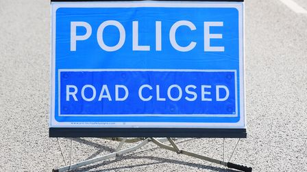 The A11 is closed following a collision. Picture: James Bass