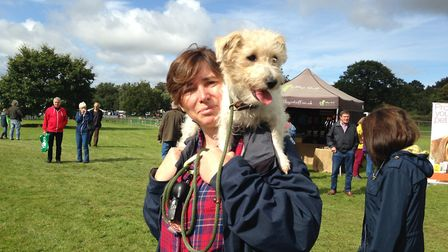 Sandringham Game and Country Fair 2017, Lorna Sharkey with Lilli. Picture: Taz Ali