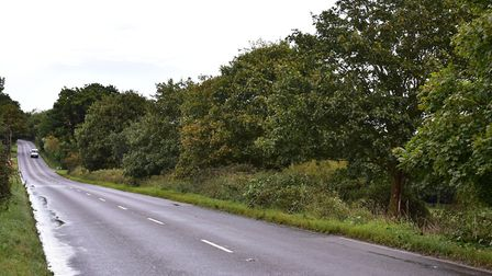 Scene of a fatal crash on the A143 Yarmouth road near Gillingham.Picture: Nick Butcher.