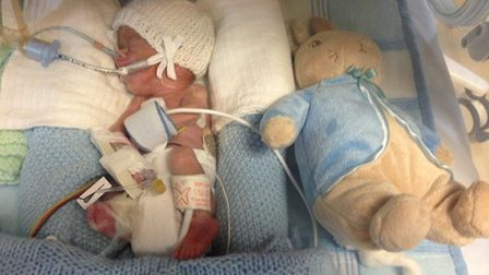 Ethan Bird was born prematurely at NNUH. Family and friends are now raising money to say thank you t