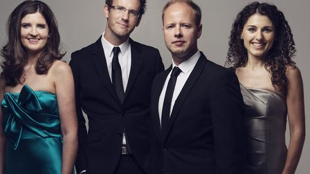 Anglo-Irish Carducci Quartet will be performing at the latest Holkham Marble Hall concert. Photo: To