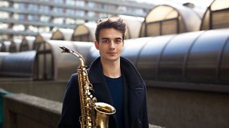 Talented Norfolk saxophonist Finlay McEwen will join with the Academy of St Thomas. Photo: Submitted