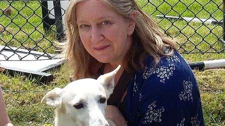 Dawn Collins with Ziggy, who was adopted from a 'kill shelter' in Spain and has just become a PAT (p