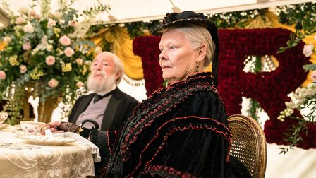 Michael Gambon as Lord Salisbury and Dame Judi Dench as Queen Victoria in Victoria & Abdul. Photo: F