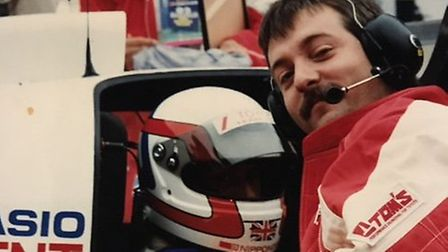 Keith Ashley pictured in the early 1990s working on the cars at Le Mans. Photo: Keith Ashley