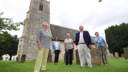Church wardens and members of the Caston church council at the Church of the Holy Cross. From left,