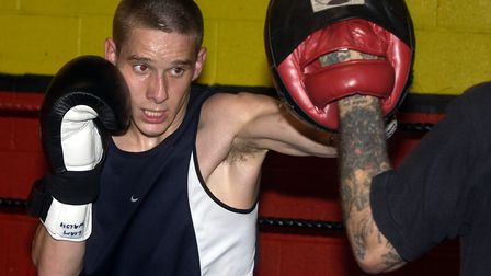 Liam Walsh on the pads at the Kickstop in his amateur days. Picture: Archant