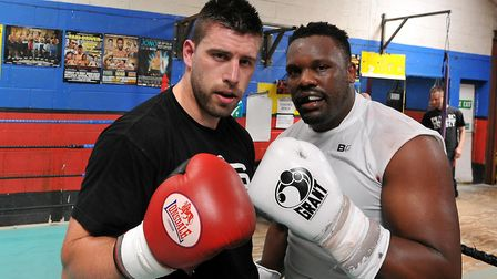 Heavyweights Sam Sexton, left, and Dereck Chisora. Picture: Archant